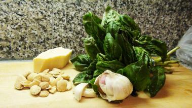Basil Pesto with Almonds Recipe