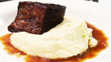 Braised Short Rib with Celery Root Puree