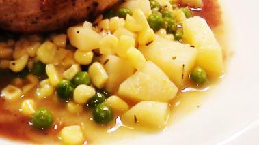 Pea, Corn and Potato Succotash Recipe