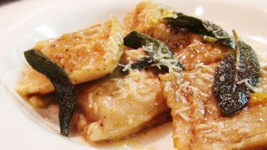 Pumpkin Ravioli with Brown Butter Sauce