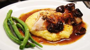 Roast Chicken with Polenta