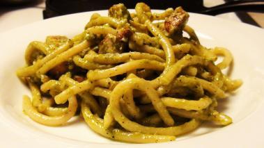 Spaghetti Pesto with Chicken