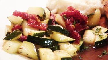 Zucchini with Sundried Tomatoes