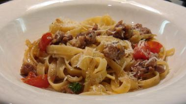 Fettucini with Sausage & Fennel Recipe