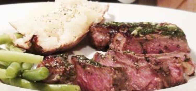 New York Steak With Garlic Parsley Butter