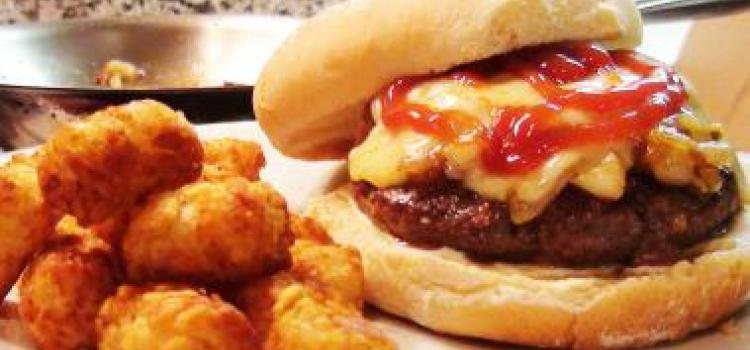 Caramelized Onion Gruyere Burger