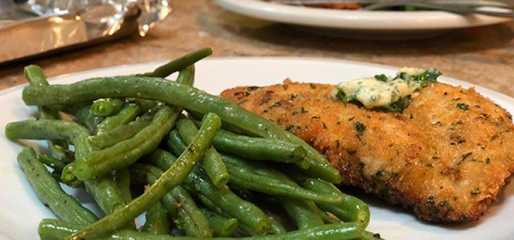 Review of Home Chef's Chicken Kiev with Parsley-garlic Butter and Green Beans