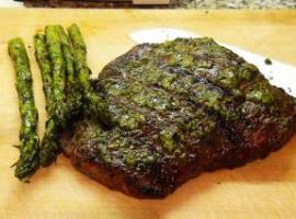 Grilled Flank Steak With Pesto Recipe