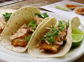 Home Chef's Baja Fish Tacos Sriracha Slaw and Pickled Shallot