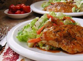 Martha & Marley Spoon's Buffalo Glazed Chicken Breast with Chopped Salad