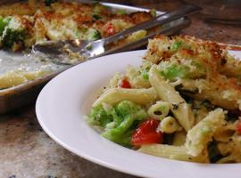 Martha & Marley Spoon's Creamy Sheet Pan Pasta with Broccoli & Tomato