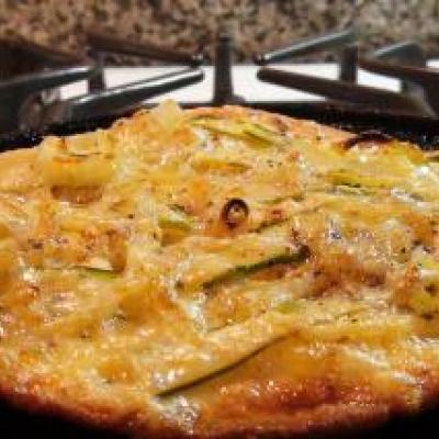 Asparagus & Onion Flatbread Pizza