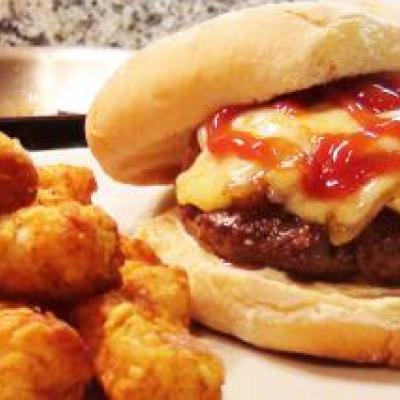 Caramelized Onion Gruyere Burger