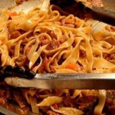 Fettucini With Pork Sugo Recipe
