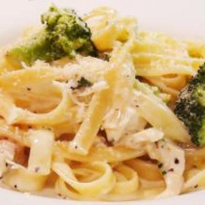 Fettucini Alfredo with Chicken and Broccoli Recipe