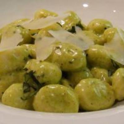Gnocchi with Pesto Cream Recipe