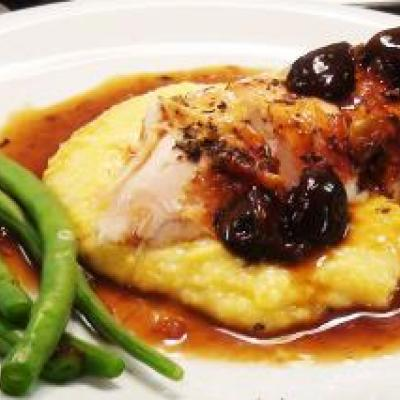 Roast Chicken with Polenta