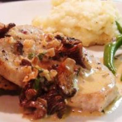 Veal Scallopini with Mushroom Cream Sauce Recipe