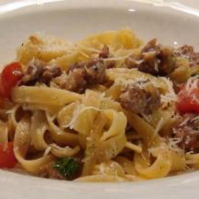 Fettucini with Sausage & Fennel Recipe