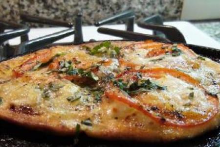Tomato & Basil Flatbread Pizza