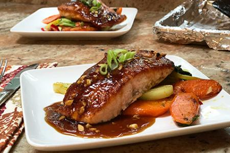 Review of Home Chef's Teriyaki Ginger Glazed Salmon