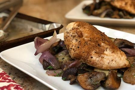 Review of Sun Basket's Sheet Pan-Roasted Chicken & Sunchokes with Bagna Cauda
