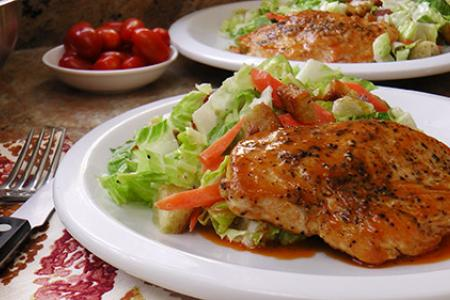 Martha & Marley Spoon's Buffalo Glazed Chicken Breast with Chopped Salad